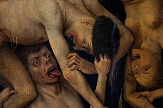 R. van der Weyden, Hoellensturz - R. van der Weyden, Descent into Hell -