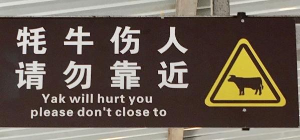 yak sign