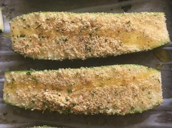 zucchini and crumbs