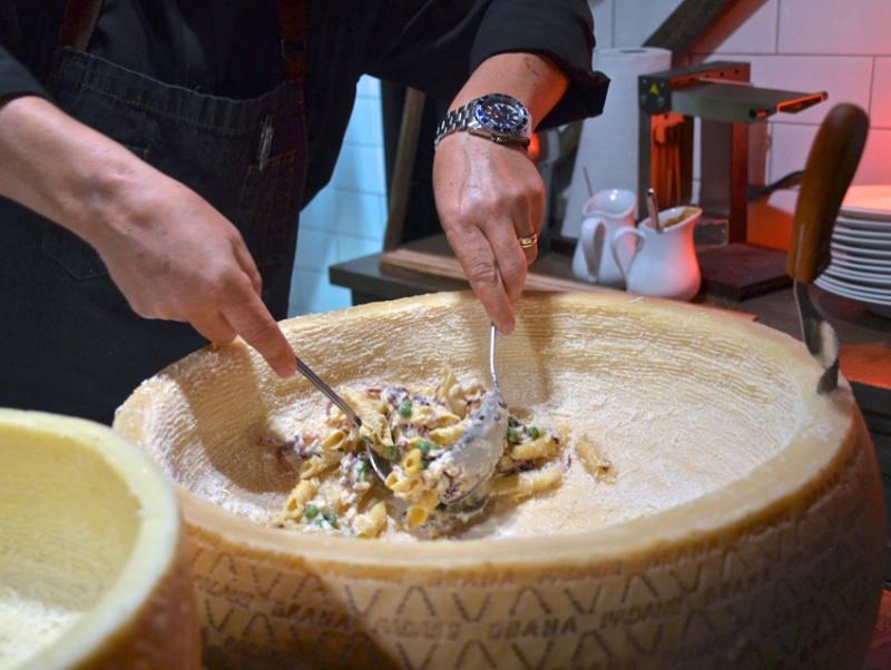 parmigiano wheel pasta